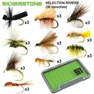 Sélection silverstone rivière 10 modèles (30 mouches + boite étanche) - Packs | Pacific Pêche