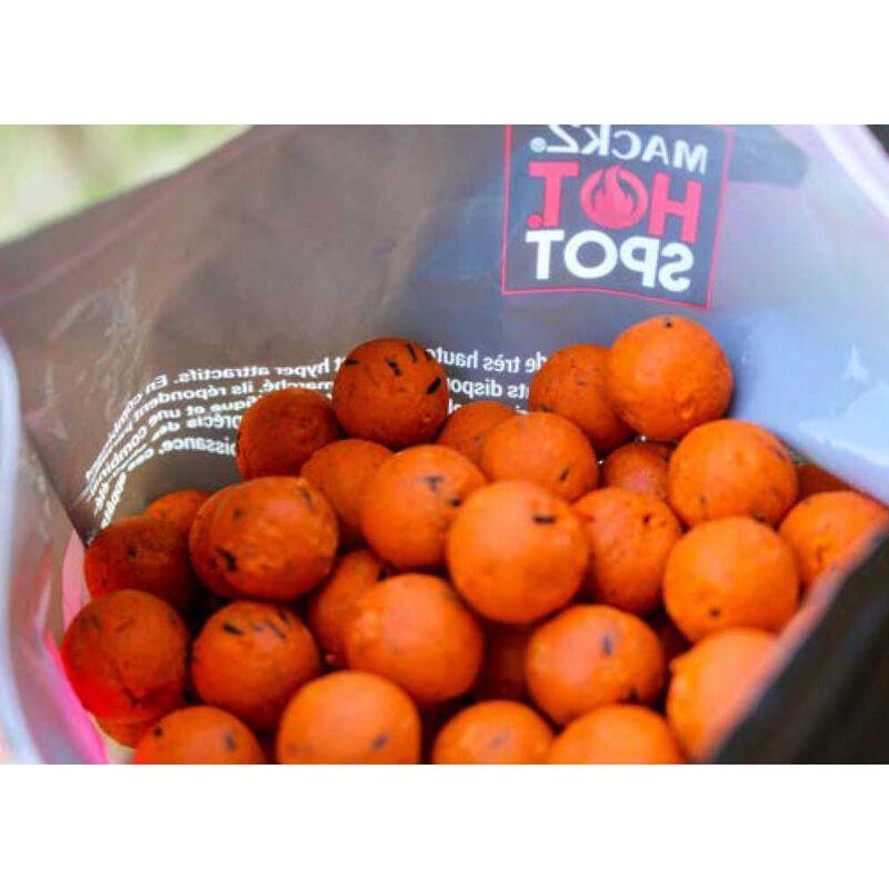 Bouillettes carpe mack2 crazy tangerine 1 kg - Denses   Pacific Pêche