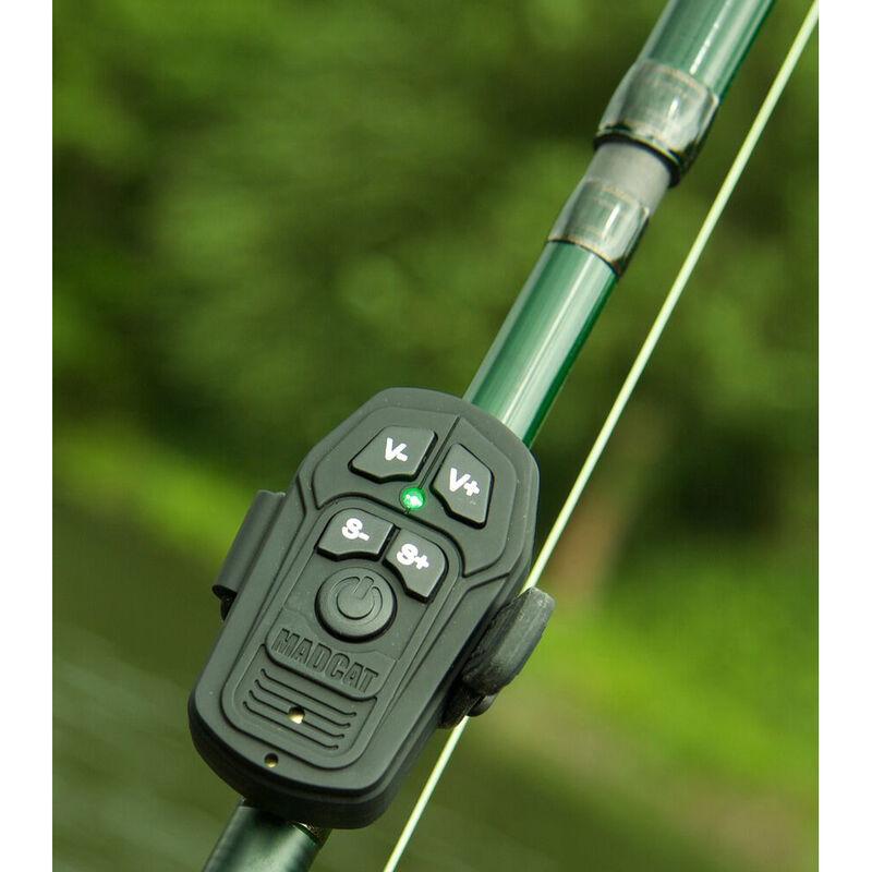 Coffret détection silure madcat smart alarm set 3+1 rouge / vert / jaune - Coffrets | Pacific Pêche