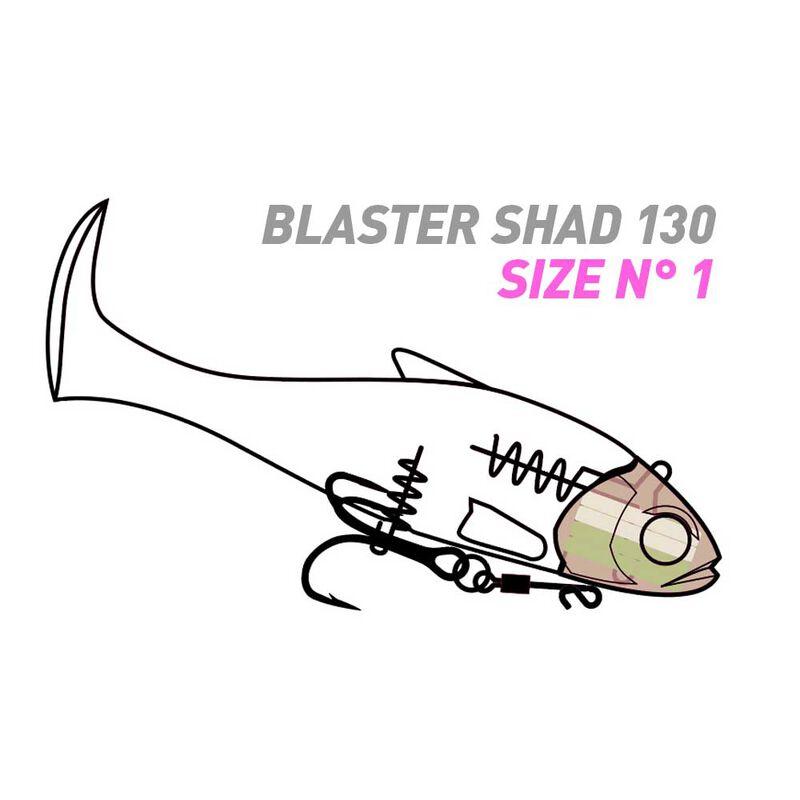 Leurre souple armé fiiish blaster shad 130 - Leurres shads | Pacific Pêche