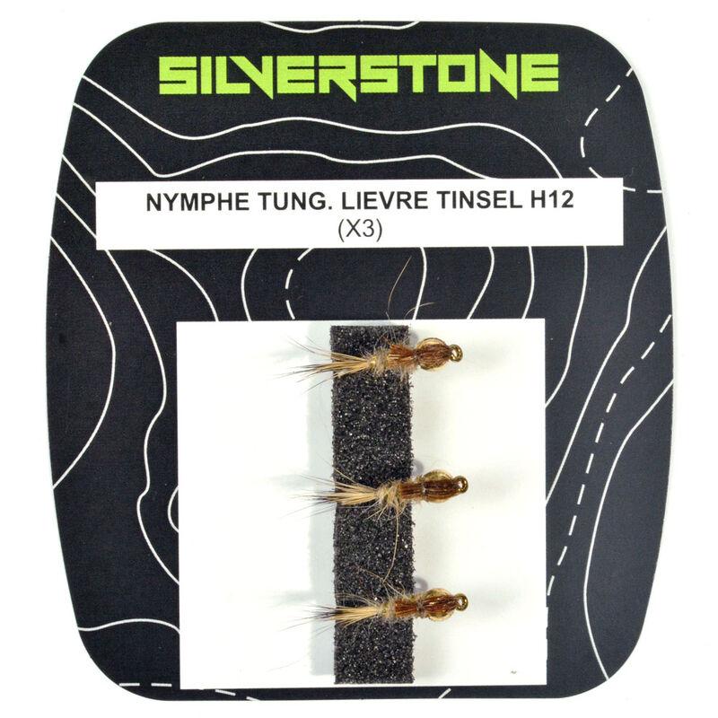 Mouche silverstone nymphe tungstène lièvre tinsel h12 (x3) - Nymphes | Pacific Pêche