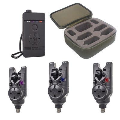 Pack 3 détecteurs carpe siren s5r avec coffret nash - Packs | Pacific Pêche