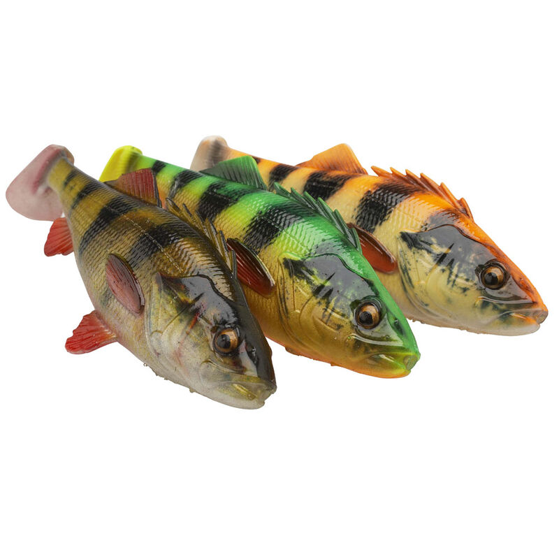Leurre souple shad carnassier savage gear 4d perch shad ss 12.5cm 25g - Shads   Pacific Pêche