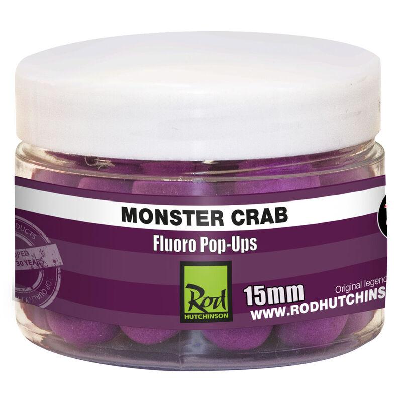 Bouillettes flottantes carpe rod hutchinson fluoro pop ups monster crab - Flottantes | Pacific Pêche