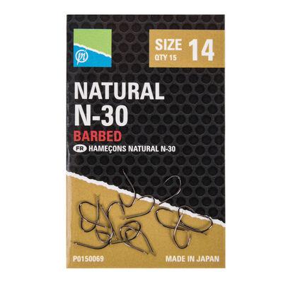 Hameçons preston natural n-30 (15 par pochette) - Hameçons | Pacific Pêche