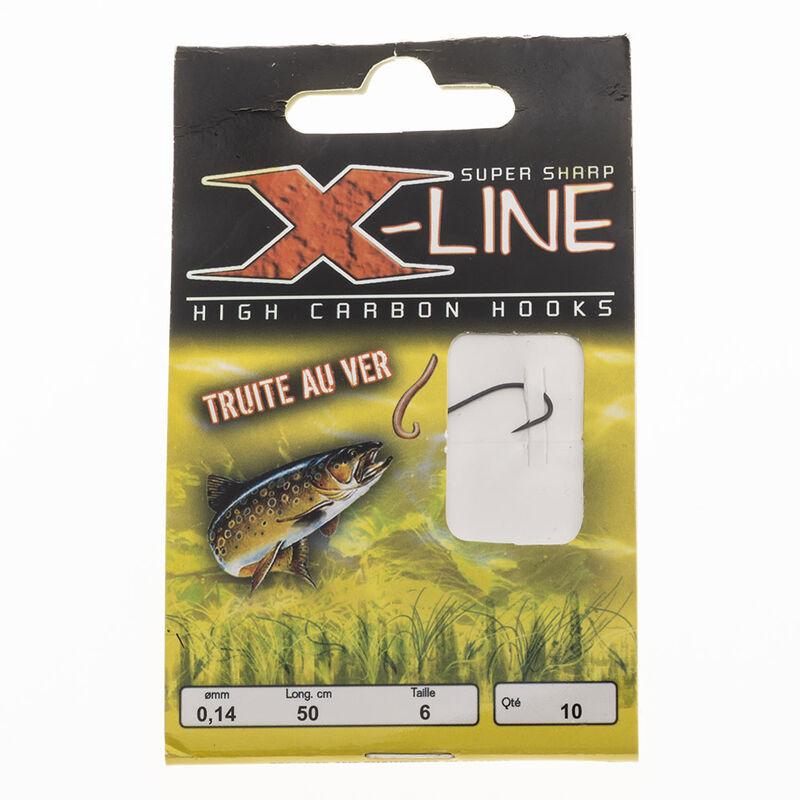 Hameçon monté truite x-line hm spécial ver (x10) - Hameçons montés   Pacific Pêche