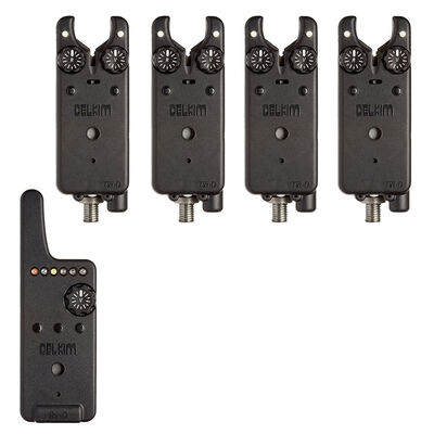 Pack 4 détecteurs carpe delkim txi-d + centrale rx-d (blanc) - Packs   Pacific Pêche
