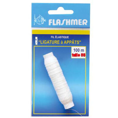 Fil elastique ligature à appats fragiles flashmer 100 m taille s - Fixes Appâts | Pacific Pêche