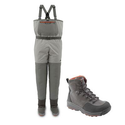 Pack wader respirant simms freestone + chaussures freestone rubber - Waders Respirants | Pacific Pêche