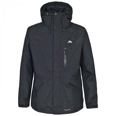 Veste impermeable homme trespass corvo jacket black - Vente privée truite | Pacific Pêche