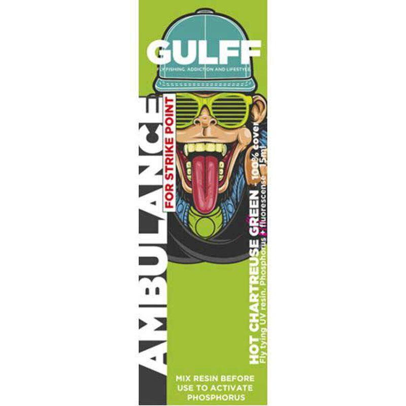 Résine uv gulff ambulance 15 ml (coloris intenses) - Vernis   Pacific Pêche