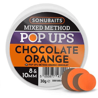Mixe de bouillettes sonubaits method pop chocolat orange - Eschage | Pacific Pêche