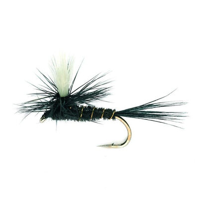 Mouche sèche silverstone parachute noir h14 (x3) - Sèches | Pacific Pêche