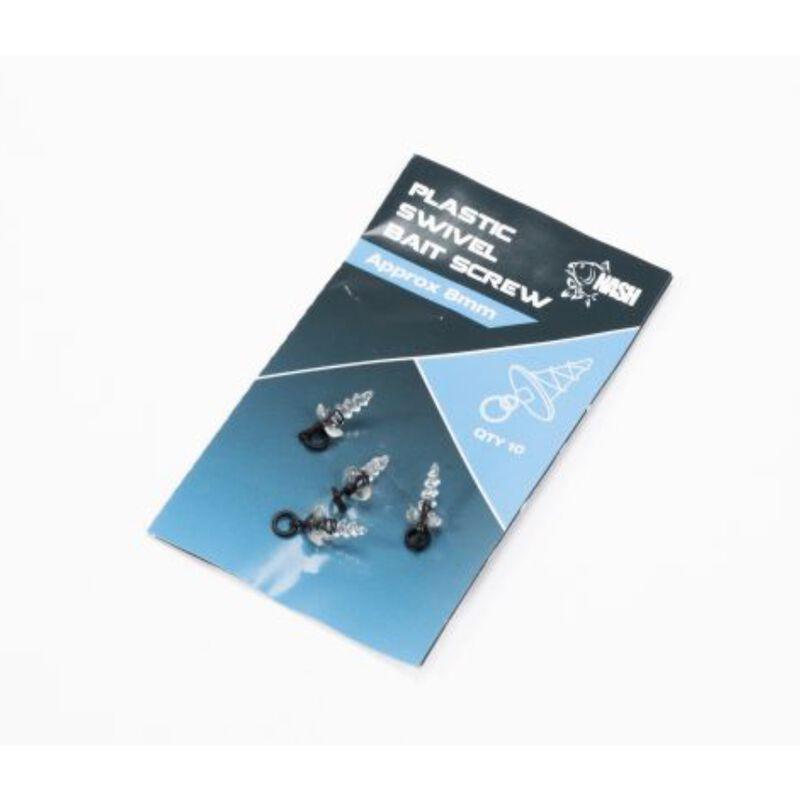 Vis plastiques nash plastic swivel bait screw (10 piéces par pochette) - Accroche appâts   Pacific Pêche