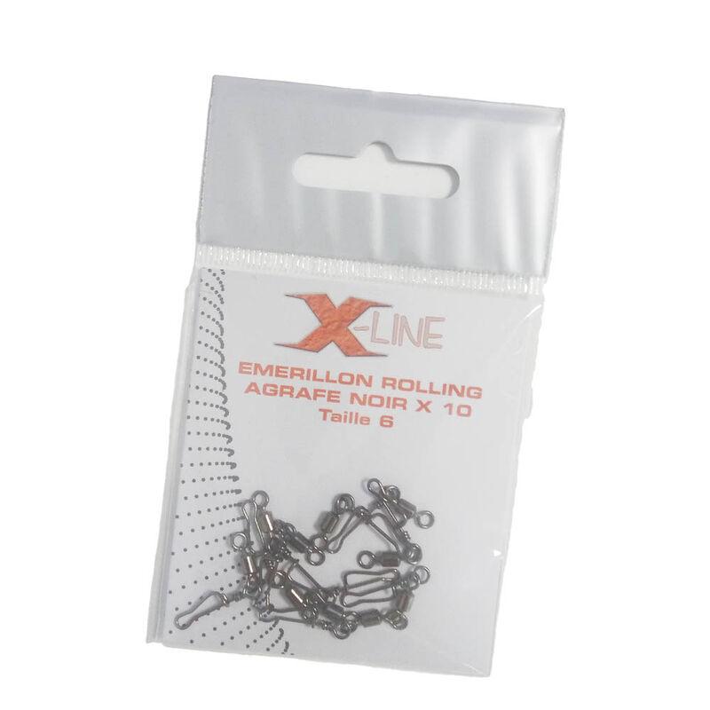 Émerillon à agrafe carnassier x-line noir (x10) - Emerillons   Pacific Pêche