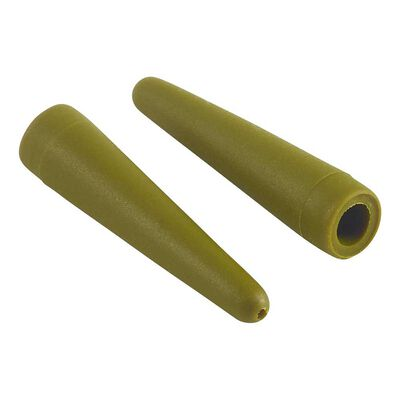 Manchon rok lead clip tail rubber green - pochette de 10 - Clip plombs et cônes | Pacific Pêche
