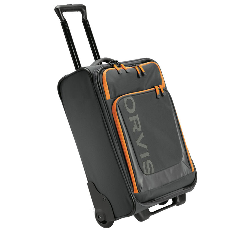 Bagage à roulettes orvis safe passage carry-on roller (charcoal/orange) - Sacs | Pacific Pêche