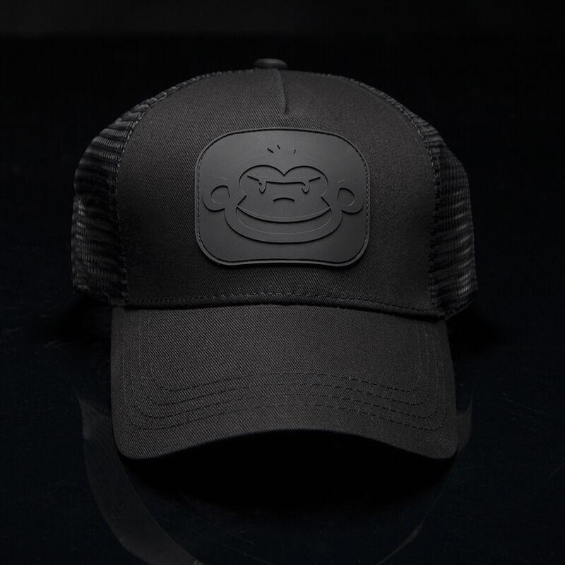 Casquette ridge monkey trucker cap black/black - Casquettes | Pacific Pêche