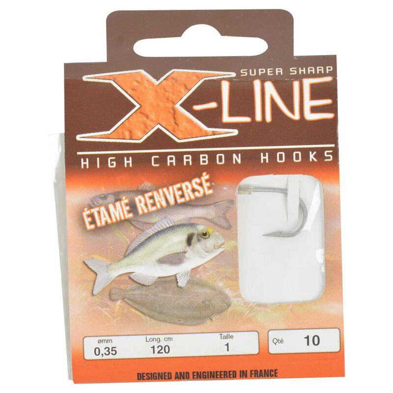 Hameçons montés mer x-line étamé renversé (x10) - Hameçons Montés | Pacific Pêche