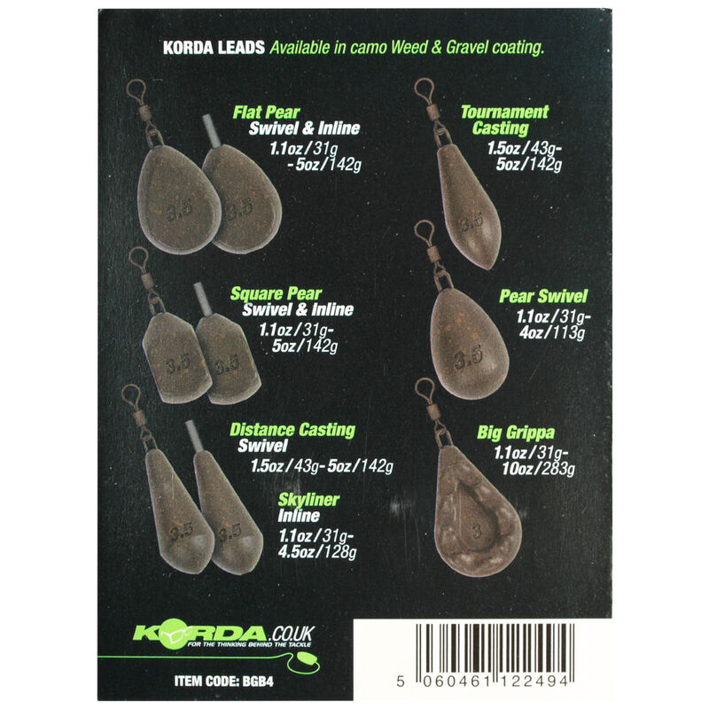 Plomb à émerillon korda square pear swivel (x2) - Emerillons | Pacific Pêche
