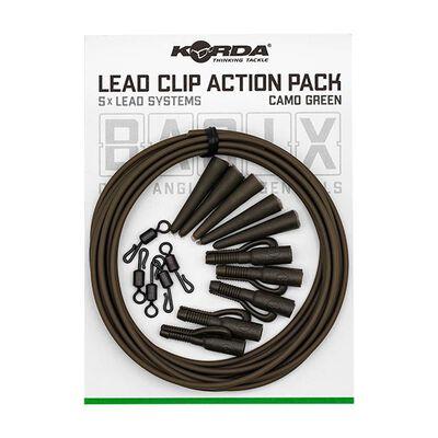Clip plombs korda basix lead clip action pack - Clip plombs et cônes | Pacific Pêche