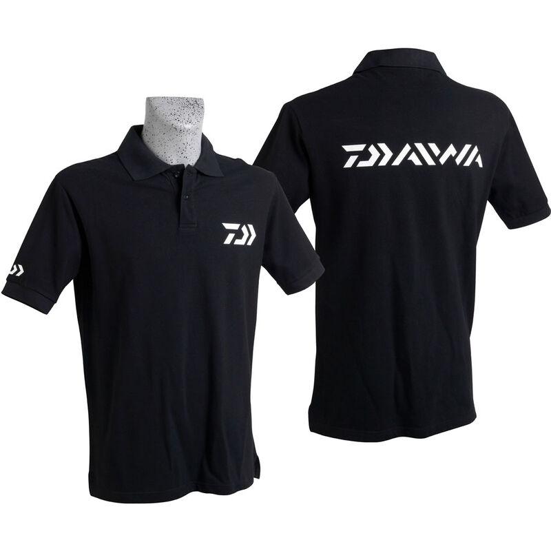 Polo daiwa noir manches courtes - Tee-Shirts | Pacific Pêche