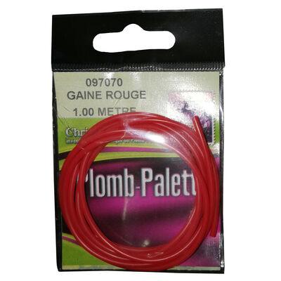 Gaine carnassier delalande pour plomb palette rouge 1m - Plombs Palette | Pacific Pêche