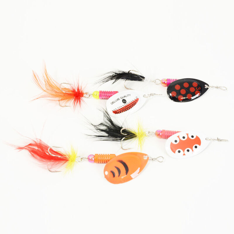 Kit cuillères tournantes mouches carnassier redfish (x4) - Packs | Pacific Pêche