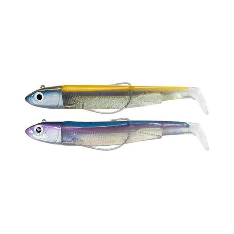 Leurre souple fiiish double combo black minnow 120 off shore 12cm 25g avec rattle - Leurres souples | Pacific Pêche