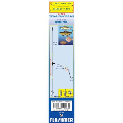 Bas de ligne mer flashmer t-swivel dl14 - Bas de Lignes / Lignes Montées | Pacific Pêche