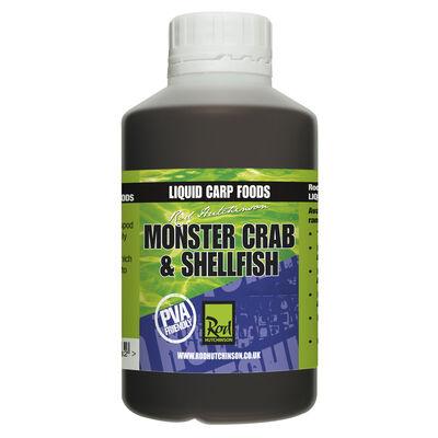 Liquide de trempage carpe rod hutchinson monster crab and shelfish liquid carp food 500ml - Liquides de trempage   Pacific Pêche