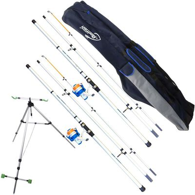 Pack surfcasting mitchell 2 cannes 4.20m + 2 moulinets + 1 fourreau + trepied - Cannes | Pacific Pêche