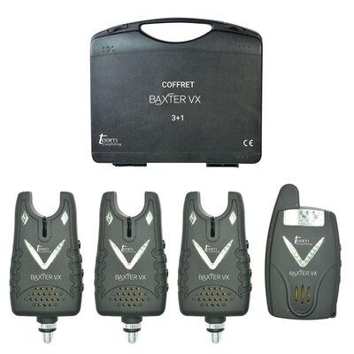 Coffret 3 détecteurs carpe team carpfishing baxter vx + centrale - Coffrets détecteurs | Pacific Pêche