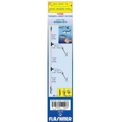 Bas de ligne mer flashmer t-swivel dl8 - Bas de Lignes / Lignes Montées | Pacific Pêche