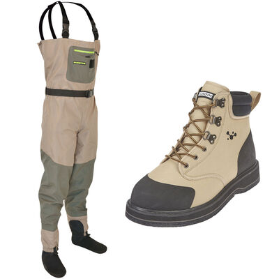Pack wader respirant silverstone sl3 + chaussures hydrox integral feutre - Packs | Pacific Pêche