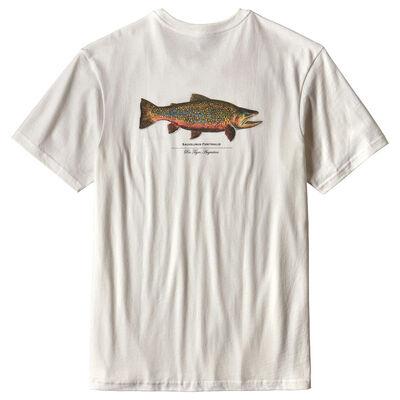 T-shirt patagonia m's world trout rio tigre (blanc) - Tee-shirts | Pacific Pêche