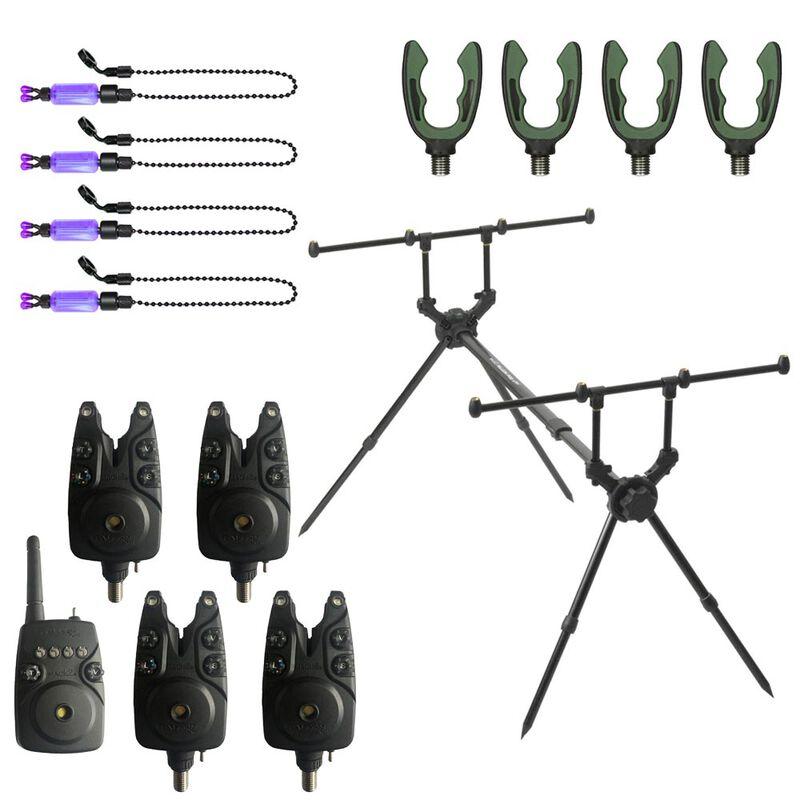 Pack mack2 rod pod falcon 4 rod + détecteurs + supports arrières + indicateurs - Packs | Pacific Pêche