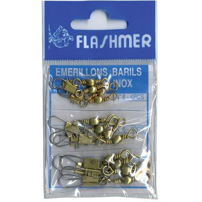 Emerillons barils agrafes flashmer kit de 12 - Emerilons   Pacific Pêche