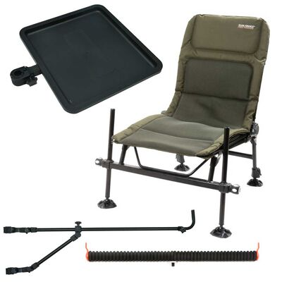 Pack chaise team feeder + desserte + support double + support cranté - siège feeder | Pacific Pêche