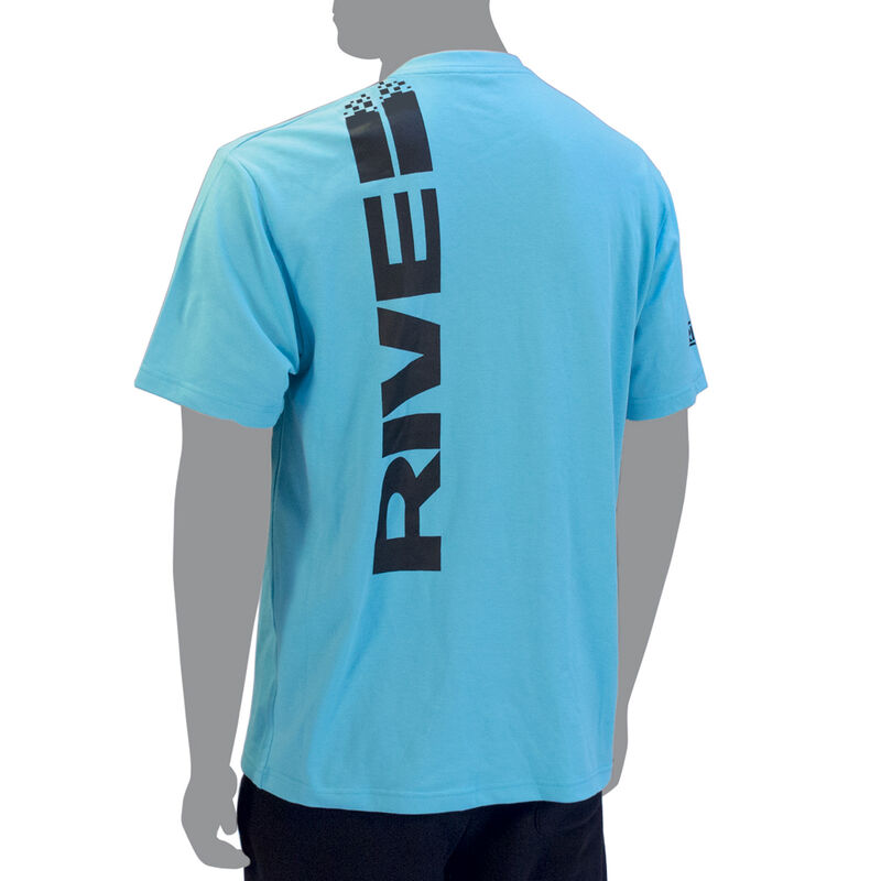 T-shirt rive homme turquoise - Manches Courtes   Pacific Pêche