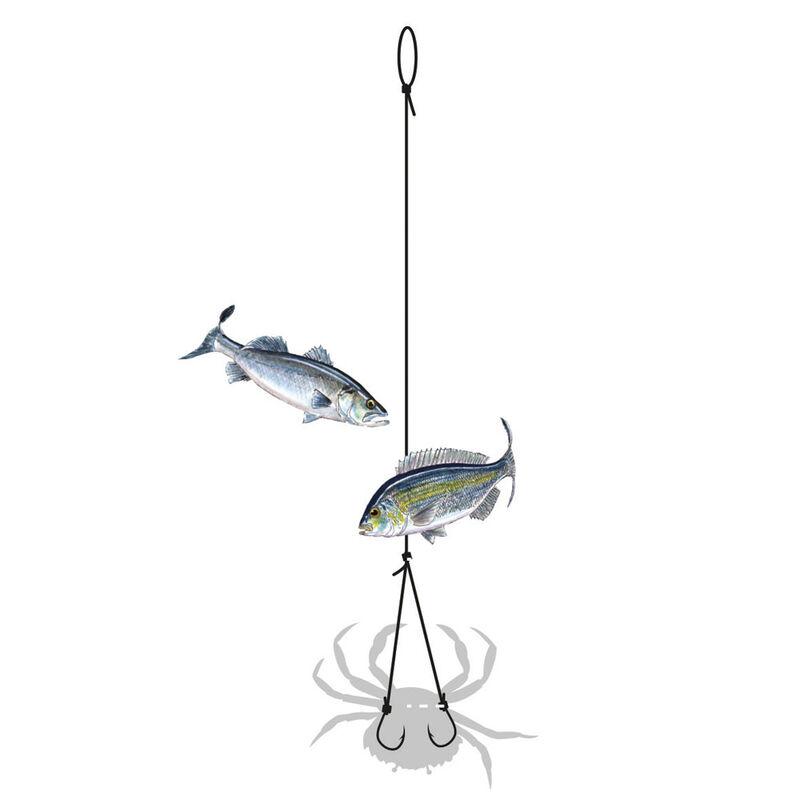 Bas de ligne flashmer montage à crabe 2 hameçons - Bas de Lignes / Lignes Montées | Pacific Pêche
