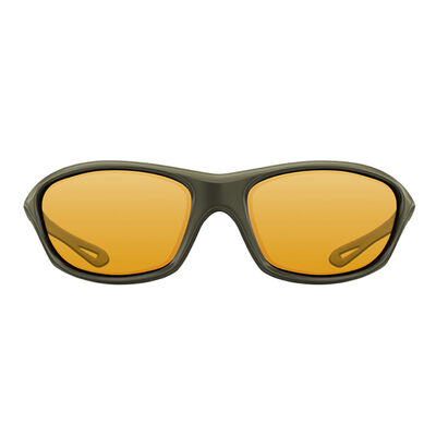 Lunettes polarisantes korda sunglasses wraps gloss olive / yellow lens - Lunettes | Pacific Pêche