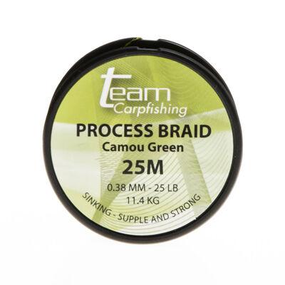 Tresse à bas de ligne carpe team carpfishing process braid 25lb - Tresse BDL | Pacific Pêche