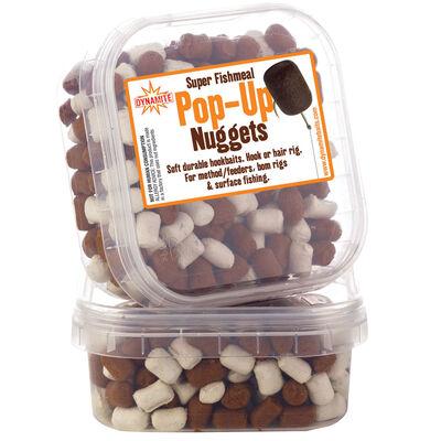Pellet d'eschage coup dynamite baits pop up nuggets white brown - Eschage | Pacific Pêche