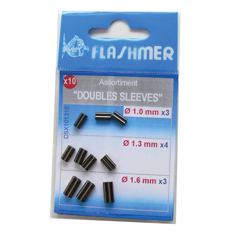 Kit doubles sleeves flashmer 10 piéces - Sleeves/Cosses | Pacific Pêche