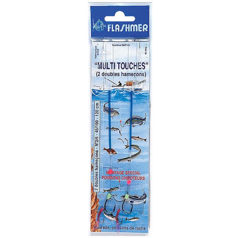 Bas de ligne mer flashmer multitouche 2 hamecons n°2 - Bas de Lignes / Lignes Montées | Pacific Pêche
