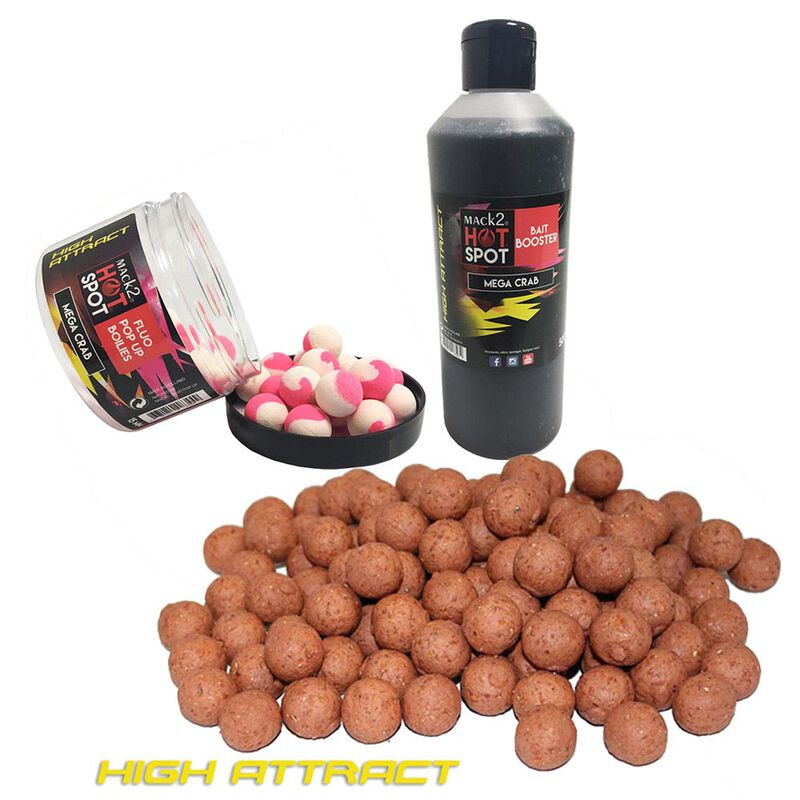 Pack week end mack2 high attract mega crab 5kg + booster + popup - Packs   Pacific Pêche