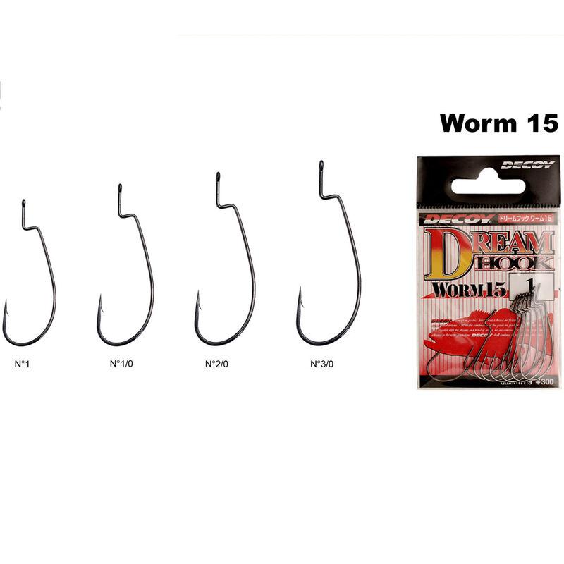 Hameçon texan carnassier decoy worm 15 (x8) - Simples | Pacific Pêche