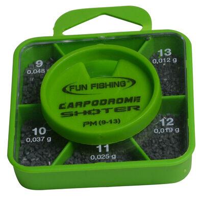 Plombs fil droit fendu coup fun fishing shoter box pm n9-10-11-12-13 - Plombs Fendus | Pacific Pêche
