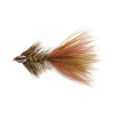 Mouche streamer silverstone skull grizzly h6 (x3) - Streamers | Pacific Pêche